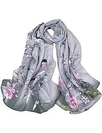 7472ecfed838 Internet Femmes Wrap doux longue écharpe Mesdames châle mousseline de soie  foulards Papillon Imprimé