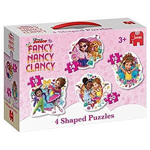 Jumbo Disney Fancy Nancy 4in1 Shaped Puzzle - Rompecabezas (Rompecabezas de Figuras, Dibujos, Niños, Niño/niña, 3 año(s), Interior)