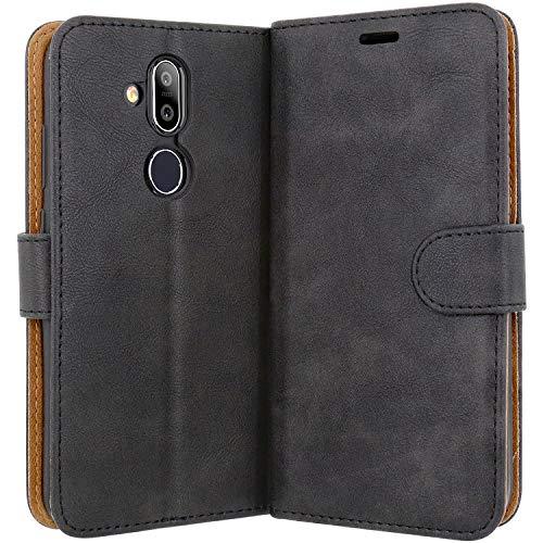 Case Collection Hochwertige Leder hülle für Nokia 8.1 Hülle (6,18