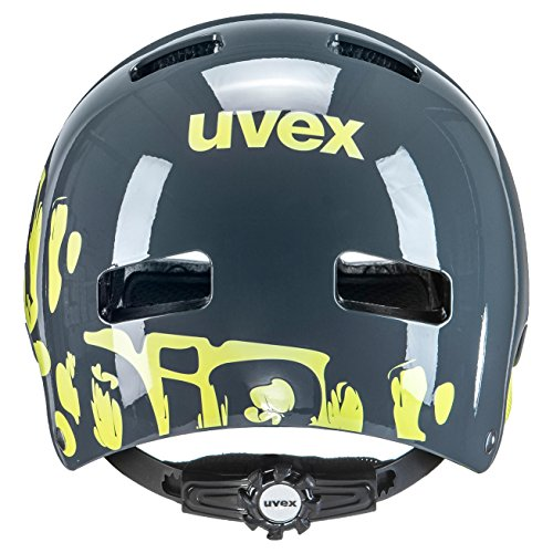 UVEX Kinder Kid 3 Radhelm, Grau (Dirtbike Gray-Lime), 55-58 cm - 2