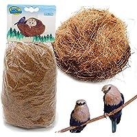 BPS 2 Pcs Sustrato Fibra Nido de Coco Natural para Pájaro Terrario Tropical Pequeño Animal Doméstico 120g BPS-1705 * 2