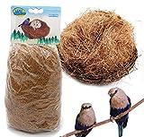 BPS 2PCS substrato Fibra Nido di Cocco Naturale per Uccello terrario Tropicale Piccolo Animale Domestico 120G bps-1705* 2