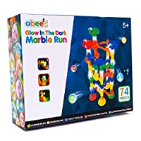 abeec Glow in the Dark Marble Race Game - 74 pcs