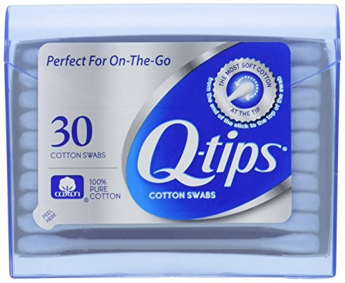 Q-Tips Cotton Swabs Purse Travel Size Pack, 30 Count (Pack of 3) by Q-Tips -