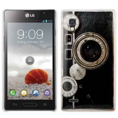 Hardcase / Hülle LG P760 Optimus L9 Kamera mit Objektiv Rangefinder Schutzhülle Case Back Cover Schale Vintage