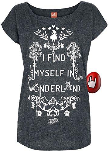 Find Myself in Wonderland Girl-Shirt Grau Meliert L (Alice In Wonderland)