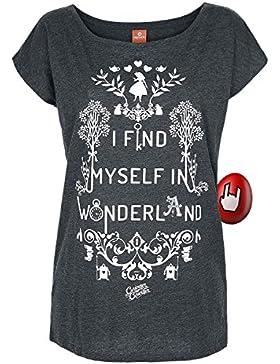 Alice im Wunderland Alicia en el país de las maravillas Camiseta de las señoras de las maravillas Loose Fit Disney...