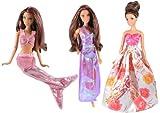 AllDollModa: Braut-, Ball- & Abendkleider für Modepuppen wie z.Bsp. Barbie, Steffi Love (Motivauswahl) (Meerjungfrau)