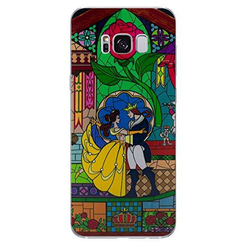 Die Schöne und Das Biest Rose Telefon Hülle/Case für Samsung Galaxy S8 (G950) mit Displayschutzfolie / Silikon Weiches Gel/TPU / iCHOOSE / Glasmalerei - Tanz