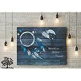 70x50 cm, Geschenk für Trauzeugen & Trauzeugin, Leinwanddruck auf Keilrahmen, Hochzeitsgeschenk, dreamcatcher, Traumfänger
