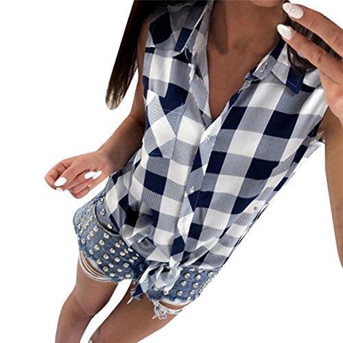 Rcool Damen Langarm Kariert Schulterfrei V Ausschnitt Shirt Blusen Herbst Tops (Noir, XL) (Gestreifte Slim Wolle Pant)