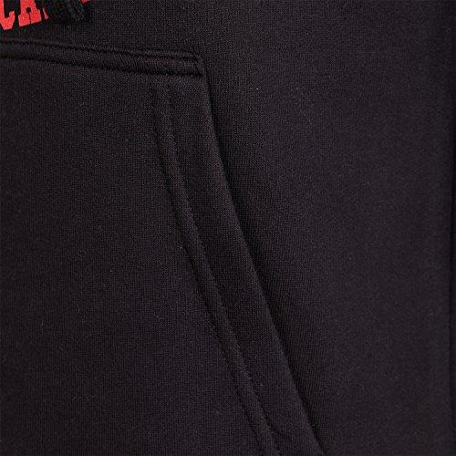 REDRUM Kapuzenpullover Herren Pullover Hoody schwarz weiß rot grau Modell Athletic Schwarz