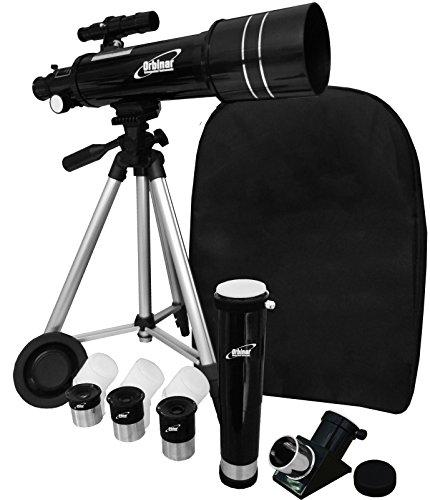 Orbinar Reise Teleskop Spektiv 400/70 inkl. Vollausstattung und Rucksack + Smartphone Adapter DKA5 - 6