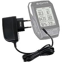 Cargador (2 Amperios) Para Ciclocomputador Sigma 46961 | 46963 | Bc23.16 STS | Elektro 01002 | Rox 10.0 GPS | 7.0 GPS | Sport Rox Gps 11.0 | Garmin Edge Touring Plus - Con Conexión Micro USB Y Enchufe Europeo De Pared - Certificado Por La CE - DURAGADGET