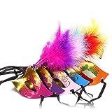 Naisidier Máscara Veneciana con Plumas para máscara de Traje Fiesta de Disfraces Vestido de Lujo