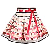 #8: Cutecumber Girls Organza Printed Beige Knee-Length Skirt AM-SK-2068B-BeigeRed