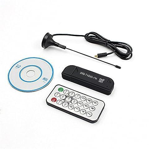 Funkelnden Sterne USB 2.0TV Stick Empfänger, RTL-SDR, FM + DAB, DVB-T mit RTL2832U & R820T Set, tolles SDR für SDR #, hdsdr (blau)