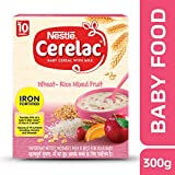 #9: Nestle Cerelac Fortified Baby Cereal with Milk, Wheat-Rice Mixed Fruit – From 10 Months, 300g Pack