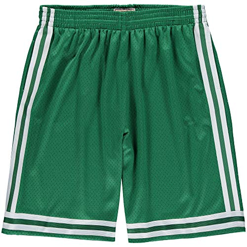 Mitchell & Ness Boston Celtics 1985-1986 Swingman NBA Shorts Grün, XL (Boston Celtics Shorts)