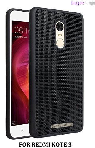 WOW Imagine Heat Dissipation Hollow Thin Soft TPU Back Case Cover for Redmi Note 3 - Black