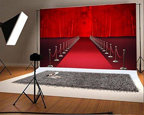 YongFoto 1,5x1m Foto Hintergrund Bühne Roter Teppich Vorhang Bokeh Halos Glitter Seuqins Hollywood Theater Innere Fotografie Hintergrund Fotoshooting Portraitfotos Party Kinder Fotostudio Requisiten
