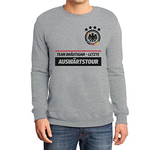 JGA Junggesellenabschied Team Bräutigam Letzte Auswärtstour Sweatshirt XX-Large Grau (Gruppe Kostüm Ideen Für 20)