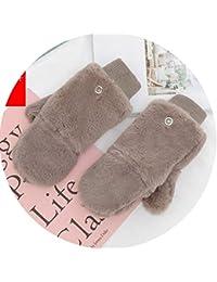 Small-shop-gloves Donna Inverno Plus Cashmere Guanti Spessi Guanti Mezze  Dita Touch Screen del Caldo Donne Doppio Spessore Maglia in… 696d3289c4a
