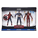 Civil War- Legends Action figures Spiderman, Capitan America Iron Man, 3 Action Figures, 15 cm