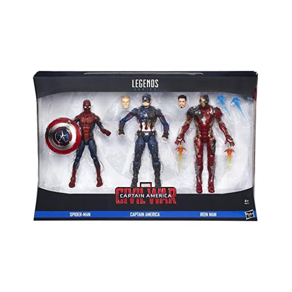 Marvel Avengers - Multipack Legends, 3 Figuras, 15 cm (Hasbro B8215EU4) 1