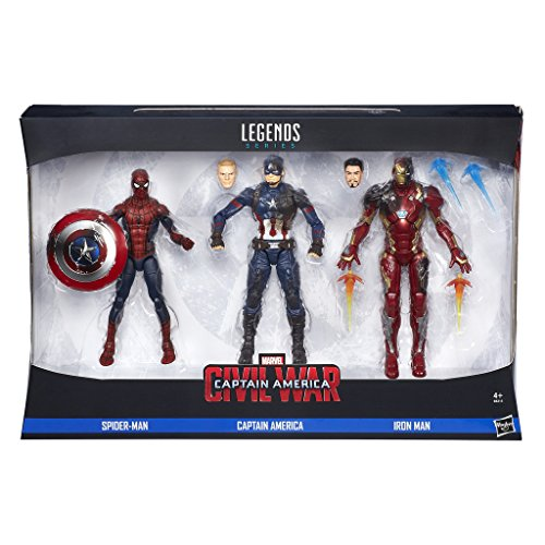 Marvel Avengers - Multipack Legends, 3 Figures, 15 cm (Hasbro B8215EU4)