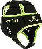 OPTIMUM, Casco Protettivo da Rugby Bambino, Nero (Black/Fluorescent Yellow), L