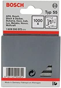 60 x 108 x 16 mm Bosch Professional 1609200372 Black Staples Type 55 60x108x16