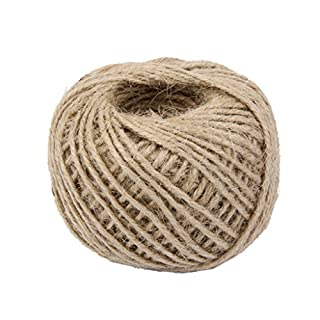 50M Wrap Gift Hemp Rope Ribbon Twine Rope Cord String Ball Natural