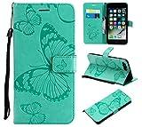Eazyhurry Custodia per iPhone PU Impresso Farfalla Modello a Portafoglio Custodia Flip Cover Compatibile iPhone se/5/5S/6/6S/6Plus/6s/7/8/7PLUS/8PLUS/x