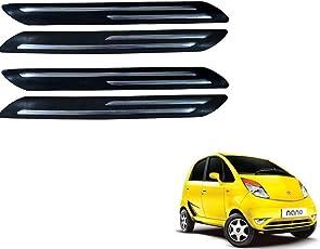 Kozdiko Double Chrome Bumper Protector Black Set of 4 Pcs for Tata Nano