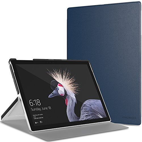 MoKo Microsoft Pro 4 / Surface Pro 2017/Pro LTE/Pro 6 Hülle - Ultra Slim PU Leder Tasche Schutzhülle Lederhülle Smart Cover mit Standfunktion, Marineblau