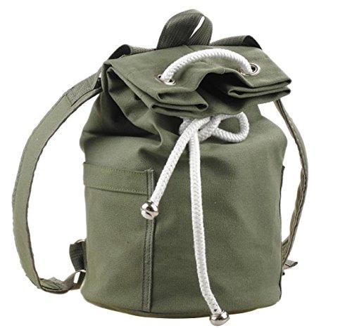 Herren Canvas Tasche Mode Schultertasche Freizeit Reisetasche,Green-OneSize