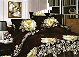SKAP Coffe Bedsheet with 2 pillow covers