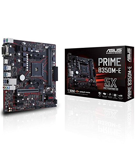 Price comparison product image Asus Prime B350M-E Socket AM4 B350 DDR4 S-ATA 600 Micro ATX Motherboard - Black