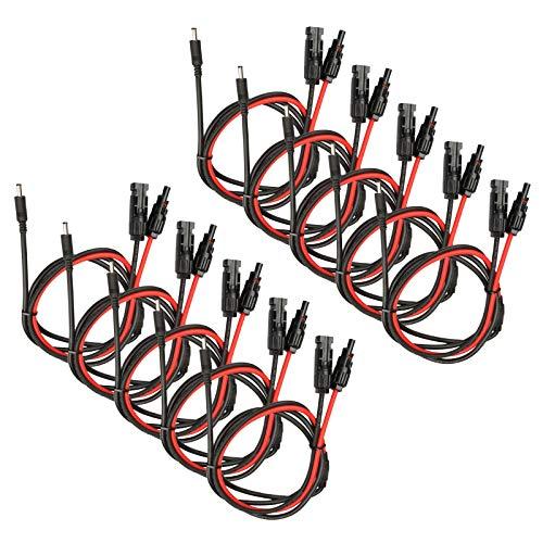 10 Paar Solarkabel Verlängerung für MC4 Solarkabel Buchse/Stecker Verbinder 10AWG 1.5m 6mm²mit MC4 Buchse und DC5521 Stecker Adapter