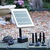 Fontaine solaire Pompe solaire avec batterie de secours – 2 W étang kit de pompe à eau pour jardin, Cascade, bain d'oiseaux par PK Vert