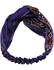 f1c19d07d1c8 TININNA Mode Serre-Tête Bandeau Cheveux Femme Elastique Turban Tissu Foulard  Wrap Headwrap