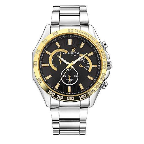 Herrenuhr Quartz Steel Belt Watch Schwarzgold Ring