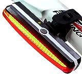 Rot LED Fahradbeleuchtung,Fahrradlicht, Fahrrad Rücklicht, USB Wiederaufladbare, 6 Licht Modi, Wasserabweisend, 180°Licht Ansicht, geeignet für alle Fahrräder (Rennräder, MTB, Straßenmotorrad) und Helme