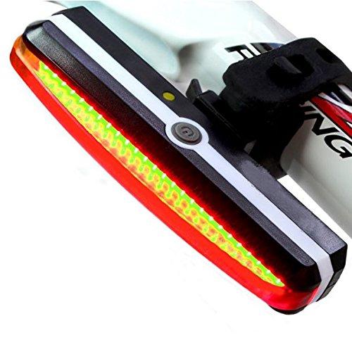 Super brillante Rojo luz LED bici, luz trasera para bicicleta, USB recargable, 6modos, impermeable, 180° luz Vista, adecuado para todas las bicicletas (bicicleta, montaña, carretera motocicleta) y cascos
