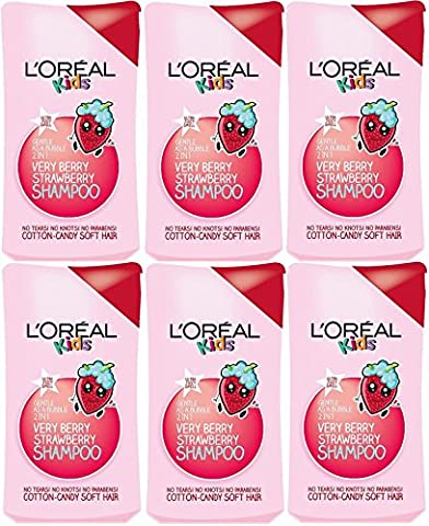 6x L'Oreal Paris Kids Extra Gentle 2-in-1 Very Berry Strawberry