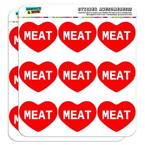 5cm (5,1cm) Scrapbooking, Aufkleber I love Herz Places Dinge m Meat