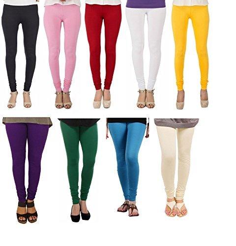 JHMART Cotton Lycra Leggings for Women Combo (Pack of 9)