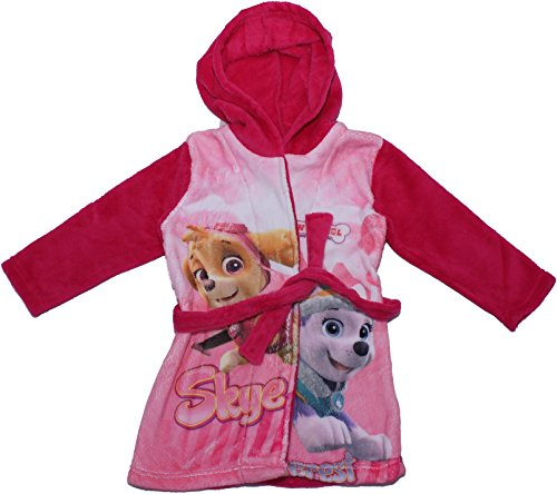 Paw Patrol Girls Childrens Long Sleeved Bath Robe Dressing Gown By BestTrend Pink 3-4 Years