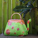 #9: Store Indya Decorative Metal Garden Watering Can for Home Garden Décor with Floral Purse Design